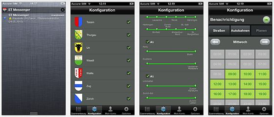 Swiss Traffic Messenger Screenshots