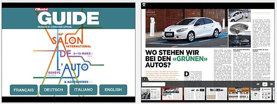 Etwas lieblose Umsetzung des offiziellen Katalogs des Auto Salon Genf 2014